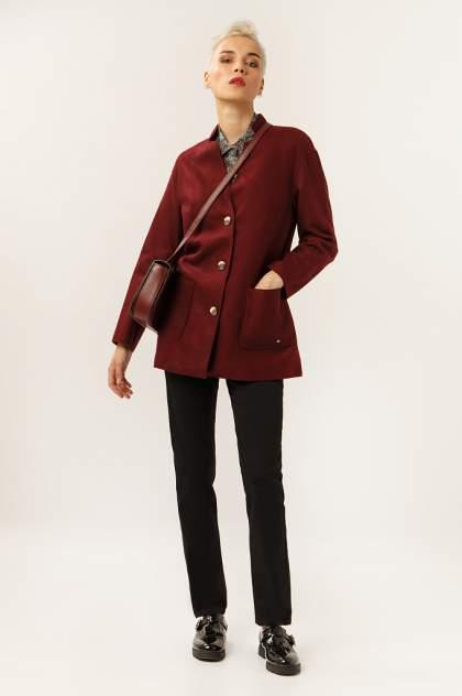Пальто-пиджак женское Finn Flare A19-12041 бордовое L