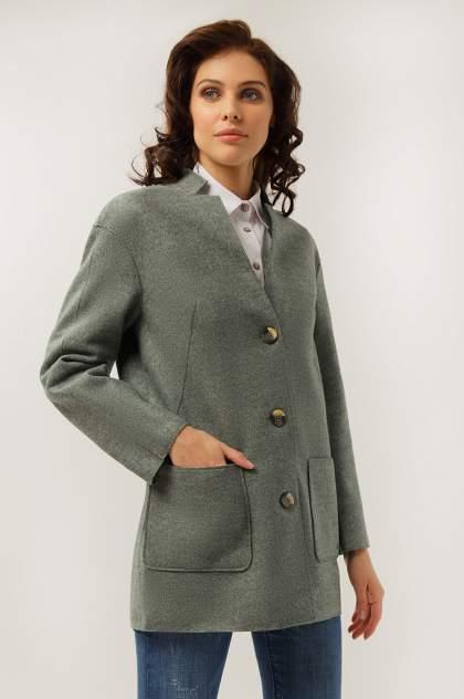 Пальто-пиджак женское Finn Flare A19-12041 зеленое XS