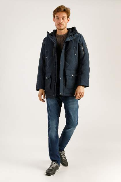 Зимняя куртка мужская Finn Flare A19-22005 темно-синяя M