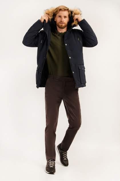 Зимняя куртка мужская Finn Flare A19-22014 темно-синяя 4XL