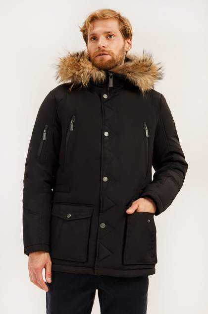 Зимняя куртка мужская Finn Flare A19-22014 черная 4XL