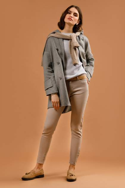 Женское пальто Finn Flare B20-32056, серый
