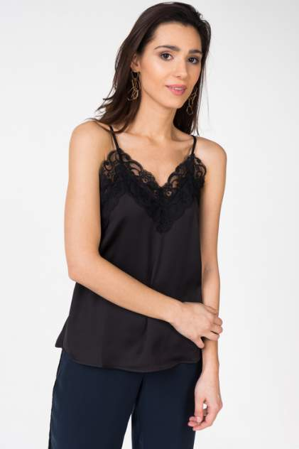 Блузка-топ женская ICHI 20107423 черная 42