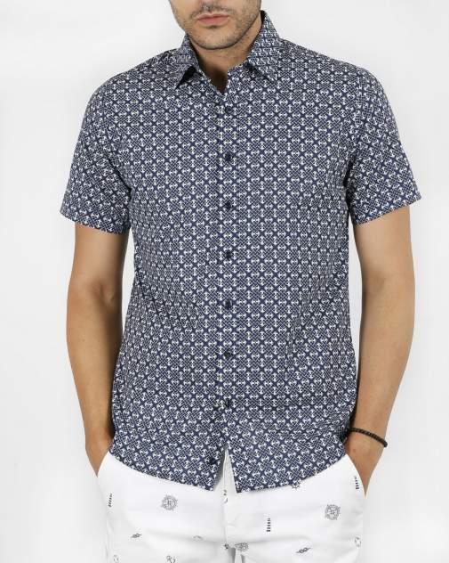 Рубашка мужская Enrico beleno GD30300125 синяя 2XL