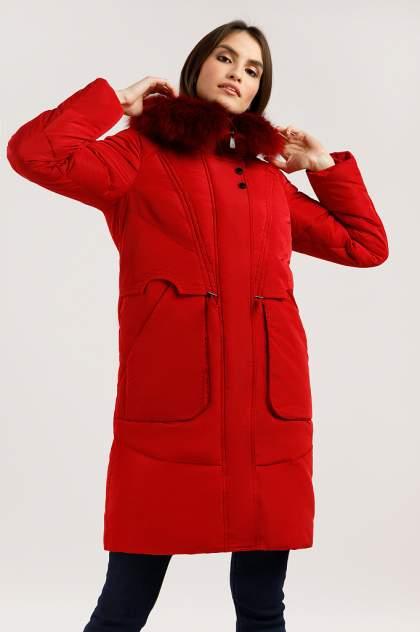Пуховик женский Finn Flare W19-12044 красный S