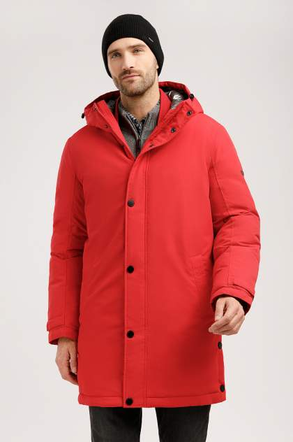 Пуховик мужской Finn Flare W19-42008 красный XXL