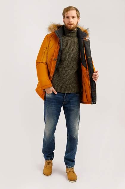 Зимняя куртка мужская Finn Flare W19-22010 желтая охра XXL