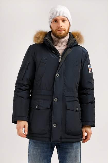 Зимняя куртка мужская Finn Flare W19-22010 темно-синяя 3XL