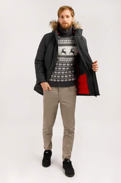 Зимняя куртка мужская Finn Flare W19-42012 темно-серая XXL