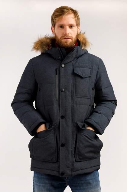 Зимняя куртка мужская Finn Flare W19-42012 темно-синяя 3XL