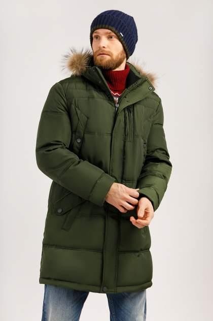 Пуховик мужской Finn Flare W19-21004 темно-зеленый XXL