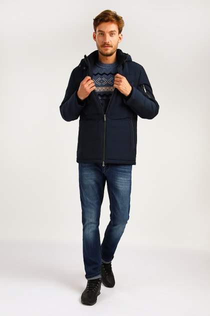 Зимняя куртка мужская Finn Flare A19-22011F темно-синяя 3XL