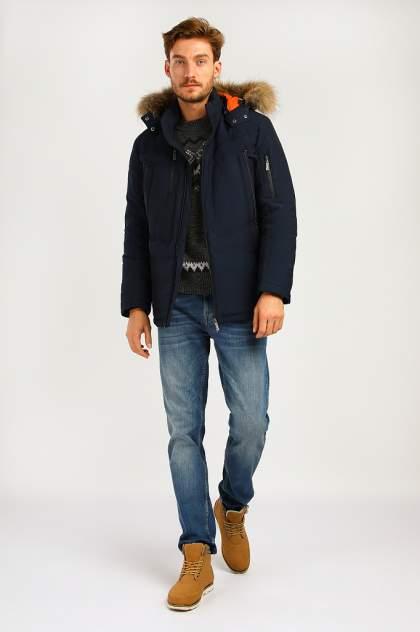 Зимняя куртка мужская Finn Flare A19-22011 темно-синяя XL