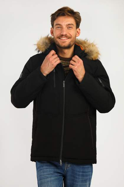 Зимняя куртка мужская Finn Flare A19-22011 черная 3XL