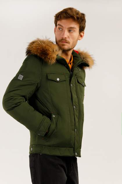 Зимняя куртка мужская Finn Flare A19-22009 темно-зеленая XXL