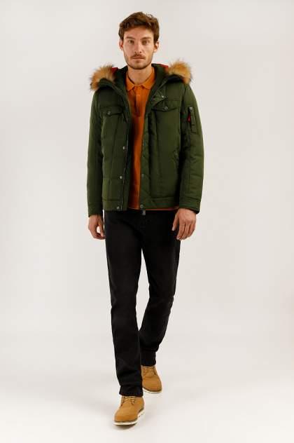 Зимняя куртка мужская Finn Flare A19-22009 темно-зеленая L