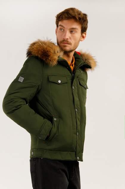 Зимняя куртка мужская Finn Flare A19-22009 темно-зеленая M
