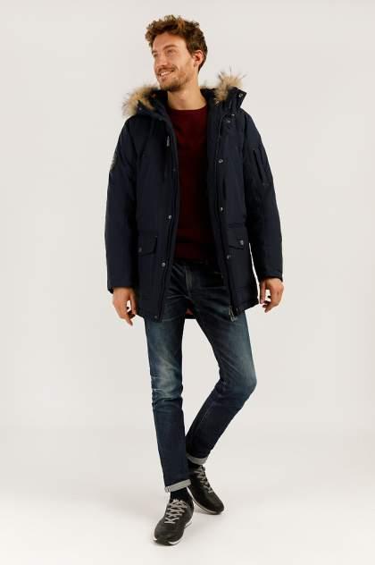 Зимняя куртка мужская Finn Flare A19-22007 темно-синяя 3XL