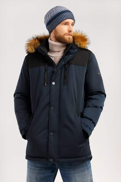 Зимняя куртка мужская Finn Flare W19-21005 темно-синяя XL