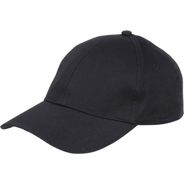 Бейсболка черная рип-стоп (6 клиньев)