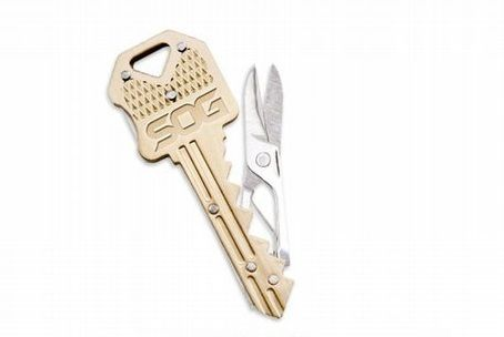 Ключ брелок металлический с ножницами SOG KEY202