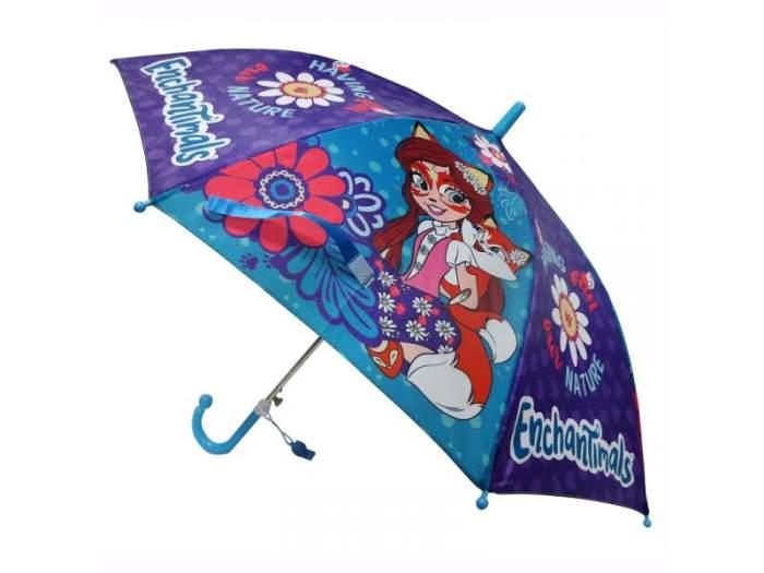 Зонт-трость Играем Вместе диаметр 45 см Enchantimals со свистком