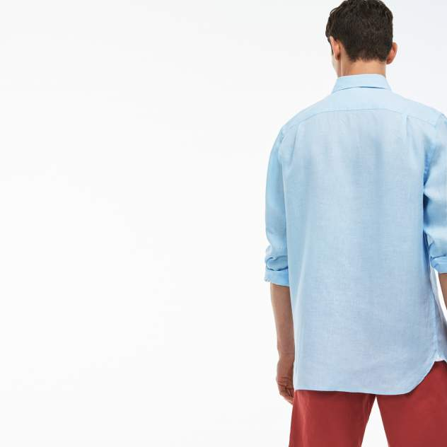Рубашка мужская Lacoste CH4990T01 голубая 39