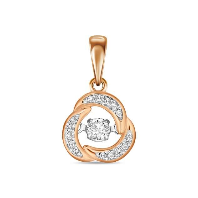 Подвеска женская с бриллиантом MIUZ Diamonds (Московский ювелирный завод) P755-67771P008