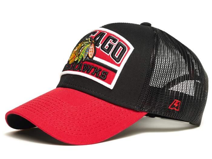 Бейсболка Atributika&Club Чикаго Блэкхокс 28160 черная/красная