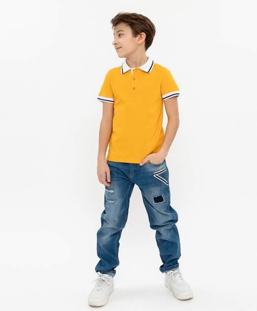 Поло для мальчиков Button Blue, цв. желтый, р-р 98