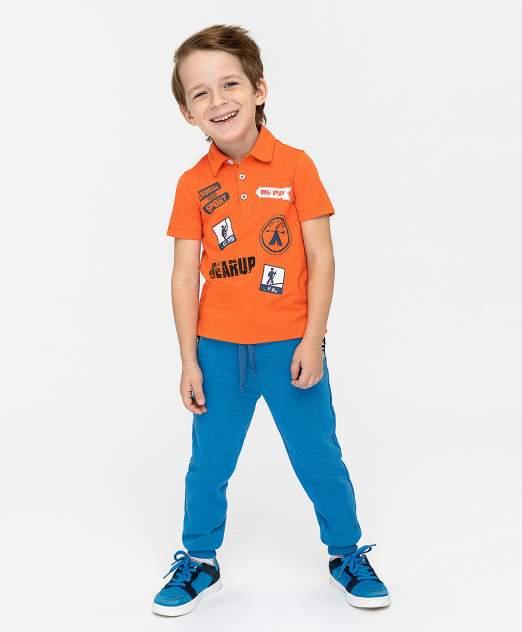 Поло для мальчиков Button Blue, цв. оранжевый, р-р 110