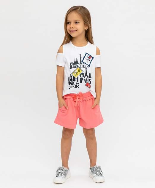 Шорты для девочек Button Blue, цв. розовый, р-р 116