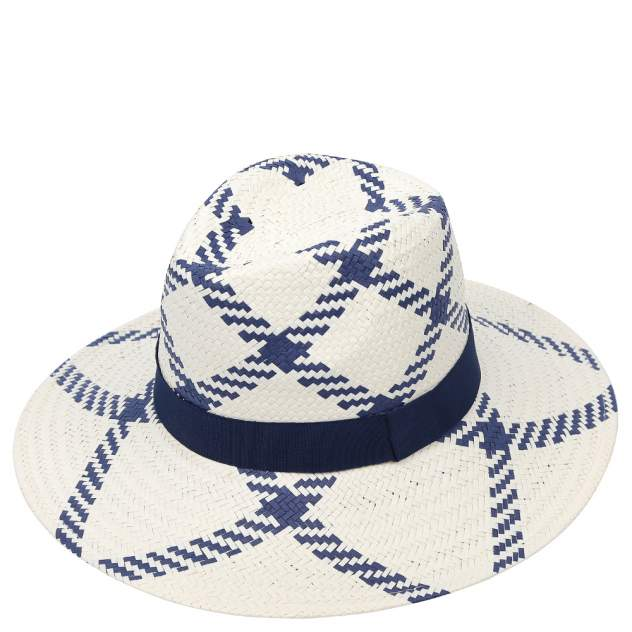 Шляпа женская FABRETTI W8 бежевая/синяя