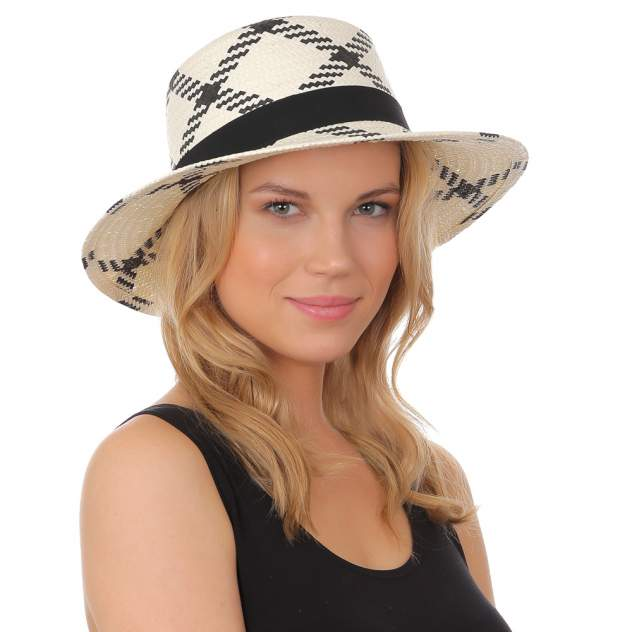 Шляпа женская FABRETTI W15 бежевая/черная