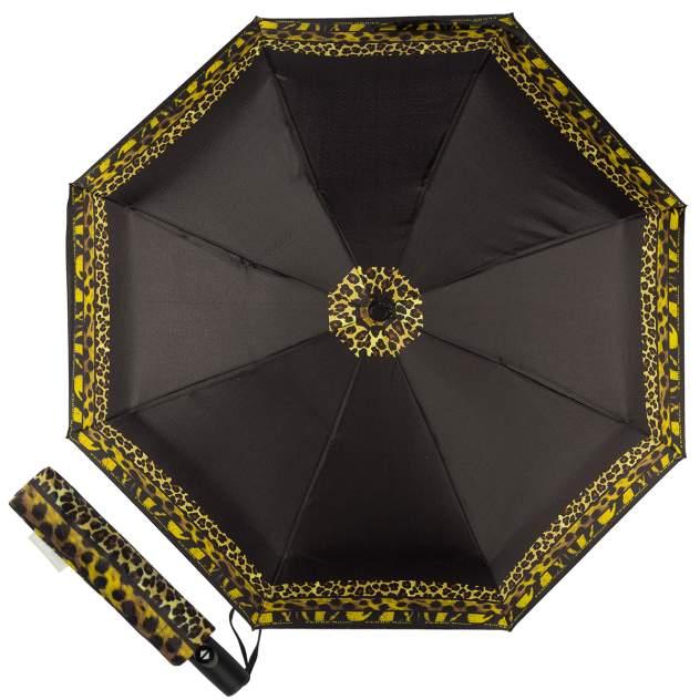 Зонт складной женский автоматический FERRE MILANO 4FDB-OC черный/желтый