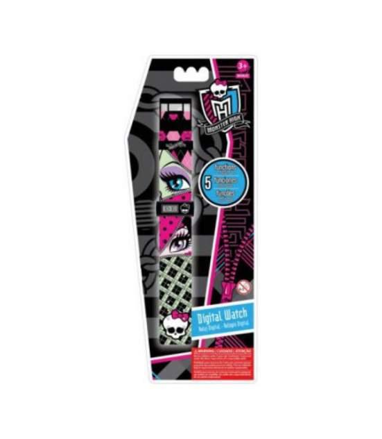 """Часы наручные электронные """"Monster High"""", цвет светло-салатовый/розовый"""