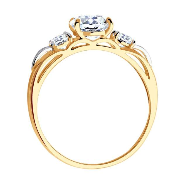 Помолвочное кольцо SOKOLOV из золота 585 пробы со Swarovski Zirconia женское 81010194 18