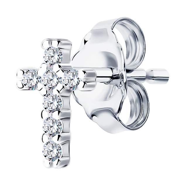 Моносерьга женская из серебра SOKOLOV 94170130, фианит