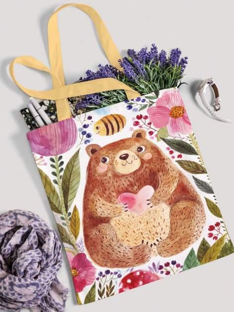 Сумка женская JoyArty Добрый медведь в цветах