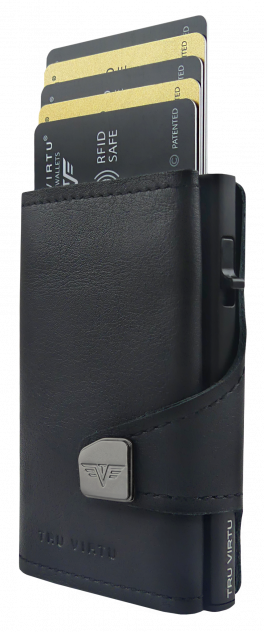 Кошелек с отделением для монет CLICK&SLIDE черный