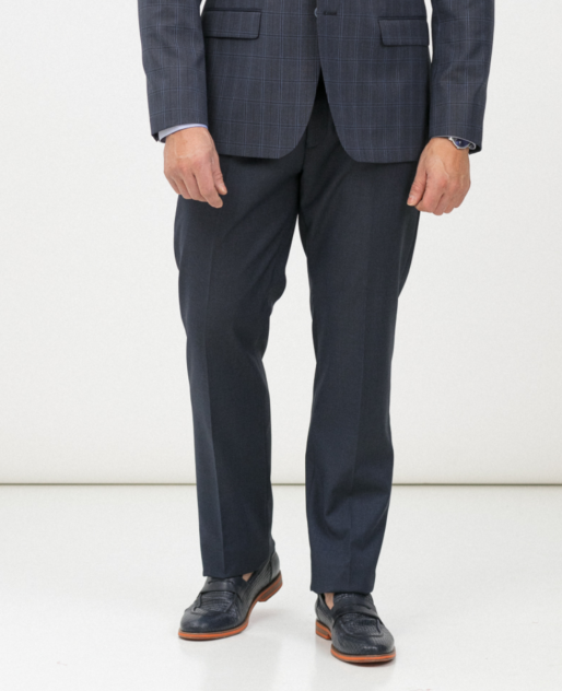 Классические брюки мужские Marc De Cler B-Prius 24761Blue-188 голубые; синие 46 RU