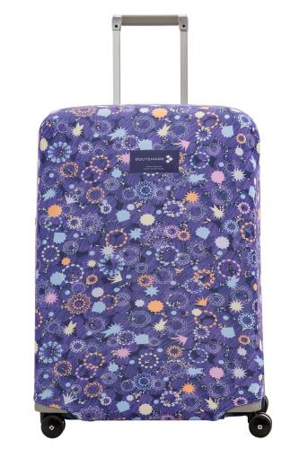 Чехол для чемодана Routemark Блестки, искры, конфетти, фиолетовый