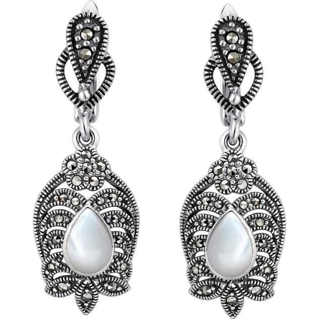 Серьги женские из серебра Эстет С26С450057Ч, коралл/swarovski