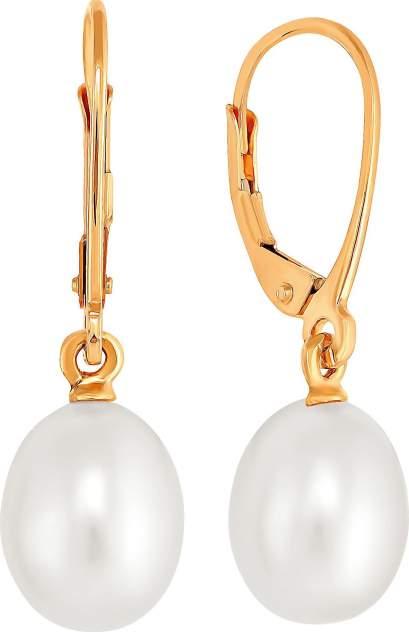 Серьги женские из золота Примаэксклюзив СЛ001, жемчуг