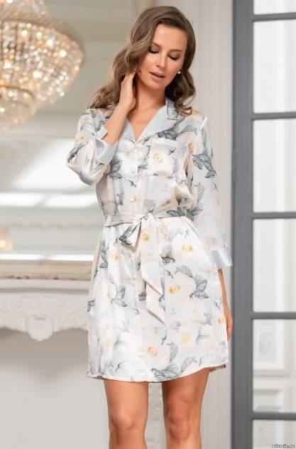 Шелковый халат женский Mia-Amore 8847, зеленый