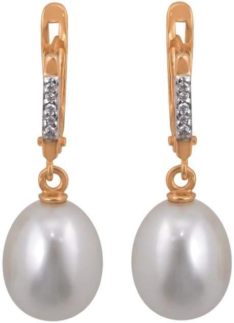 Серьги женские из золота Примаэксклюзив СЛ9524, жемчуг/фианит