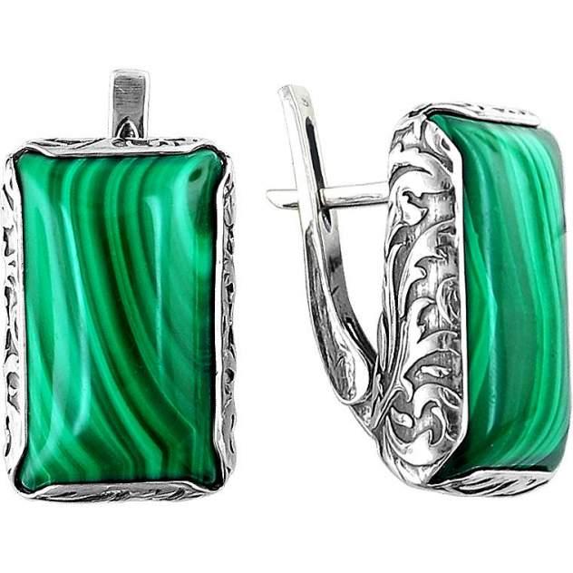 Серьги женские из серебра Эстет К3С453571ач, агат