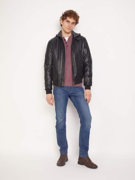 Мужская кожаная куртка Zolla z011335P020249900, черный