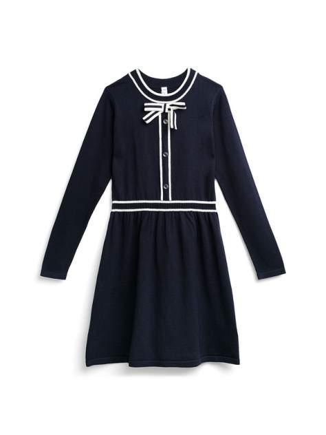 Платье PlayToday 394415_темно-синий, светло-серый, белый р.164