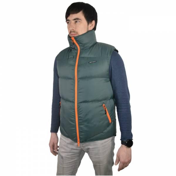 Жилет BVN Альпинист, р-р 46/176, цв. зеленый с оранжевыми молниями